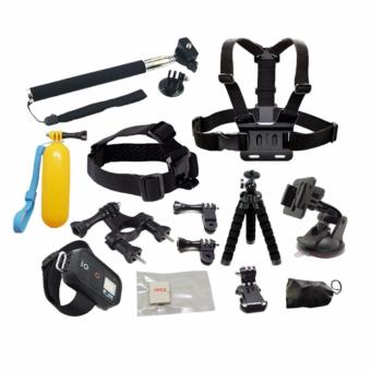 HeadStrap ChestStrap Monopod Case Tripod Chest Wrist Remote StrapMount for Xiaoyi Go pro 5 4 3 SJCAM SJ4000 Action Sport CameraAccessories kit