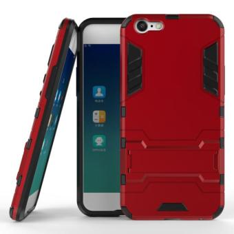 [Heavy Duty] [Shock-Absorption] [Kickstand Feature] Hybrid Dual Layer Armor Defender Full Body Protective Case Cover for OPPO A39 / OPPO A57.[Not Fit OPPO A37] - intl