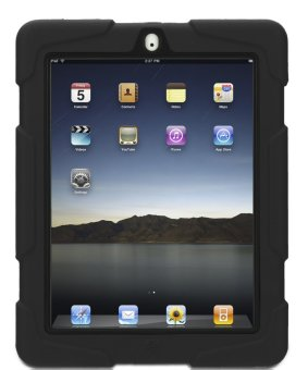 Heavy Duty Shockproof Case for iPad 2/3/4 (Black)
