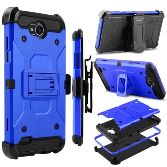 Heavy Duty Shockproof Full-body Protection Case Cover with Swivel Belt Clip and Kickstand for LG X Power 2 / LG LV7 / LG K10 Power - intl