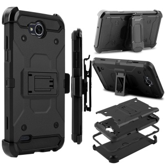 Heavy Duty Shockproof Full-body Protection Case Cover with SwivelBelt Clip and Kickstand for LG X Power 2 / LG LV7 / LG K10 Power -intl