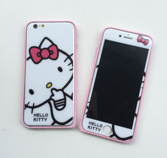 Hello Kitty iphone6/6plus cute full-screen tempered film colored Protector