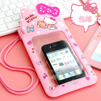 Hello Kitty swimming drifting phone waterproof protective case mobile phone bag