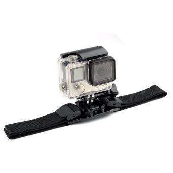 Helmet Strap Vented Adjustable Head Helmet Strap Belt Mount for Go pro 5 4 3 Yi 4k SJCAM SJ4000 EKEN H9 Action Sport Camera Accessories Price Philippines