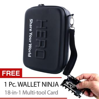 Hero Small Carry Case for GoPro Hero 4/3+/3/2/Session/ SJCAMAction/Sport Camera (Black) with Free 18-in-1 Wallet Ninja Price Philippines