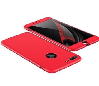 Hicase 360 Degree All-around Ultra Thin Full Body Coverage Protection Dual Layer Hard Slim Case For iPhone 7 Plus / iPhone 8 Plus Red - intl