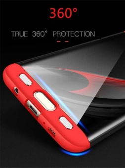 Hicase 360 Degree All-around Ultra Thin Full Body Coverage Protection Dual Layer Hard Slim Case For Samsung S7 edge Red - intl - 5