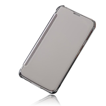 Hicase Mirror Smart Clear View Window Flip Case Cover For Samsung Galaxy S5 Silver - intl