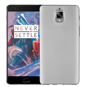 Hicase Ultra Light Slim Shockproof Silicone TPU Protective Case Cover for OnePlus 3 / One Plus 3T Silver