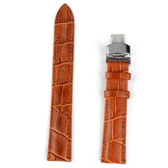 High Quality Brand New 18-24mm Women Men Genuine Leather StainlessSteel Strap Butterfly Folding Clasp Buckle Watch Band 20mm Price Philippines