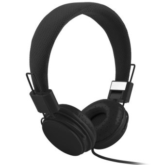 High Quality Fashion Headset Dj Headphone For Girls Kids With Mic - Black - intl Price Philippines