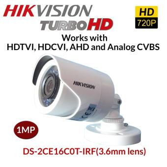 HIKVISION DS-2CE16C0T-IRF (3.6) 1MP IP66 Bullet 4in1 Hdtvi Hdcvi AHD Analog