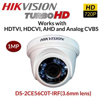 HIKVISION DS-2CE56C0T-IRF (3.6) 1MP IP66 Dome 4in1 Hdtvi Hdcvi AHD Analog