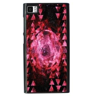 Hipster Nebula Pattern Phone Case for Xiaomi Mi3 (Black/Pink)