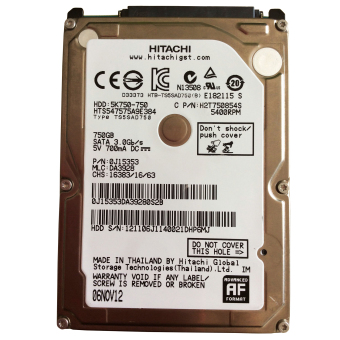 "Hitachi 750GB 5400RPM 8MB 2.5 "" SATAII Internal Hard Drive HDD forDell Lenovo Acer Asus Mac Apple Laptop Desktop Price Philippines"