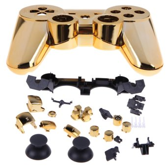HKS New Wireless Controller Full Housing Shell Case for Sony PS 3 PS3 Golden (Intl) - picture 2