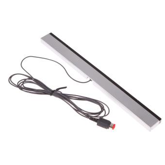 HKS Wired Infrared Ray Sensor Bar for Nintendo Wii Wii U (Black/Silver) (Intl)