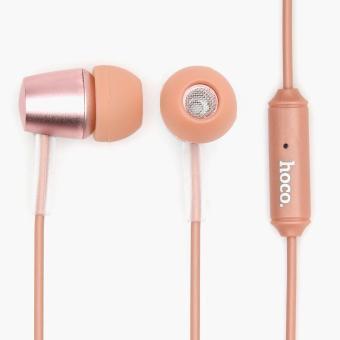 Hoco Universal Wire Control Earphones (Rose Gold)