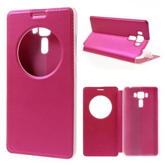Hollow View Window Leather Shell for Asus Zenfone 3 Laser ZC551KL - Rose - intl