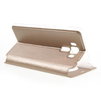 Hollow View Window Leather Stand Cover for Asus Zenfone 3 Laser ZC551KL - Gold - intl - 5