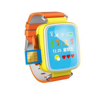 Hot Kid GPS Smart Watch Wristwatch SOS Call Location FinderLocatorDevice Tracker For Kid Safe Anti Lost Monitor Baby Gift Q60(Color:Orange)
