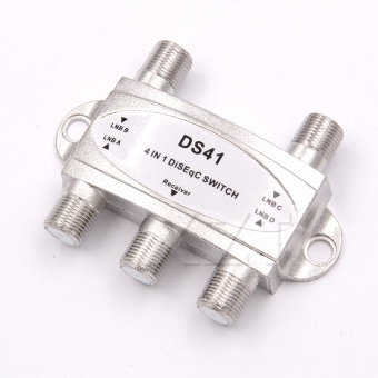 Hot Newest 1pcs Free TV DiSEqC Switch 4x1 DiSEqC Switch satelliteantenna flat LNB Switch for TV Receiver - intl - 3