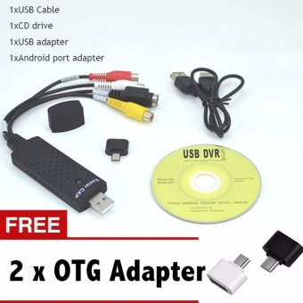 Hot Sale Easycap USB 2.0 Easy Cap Video TV DVD VHS DVR CaptureAdapter Usb Video Capture Vedio Capture Device - intl