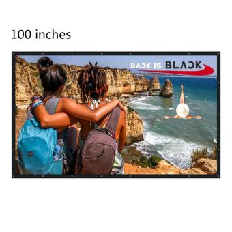 Hot Sale NIERBO 100 Inch 16:9 Collapsible PVC HD Portable Home and Outdoor Projector Screen Movies Screen for Front Projection (100) - intl