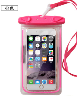 Hot Spring iphone7plus underwater photo shoot mobile phone waterproof bag swimming diving cover