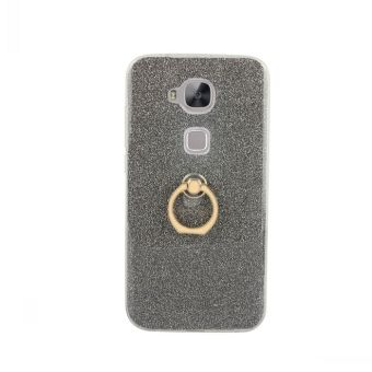 Huawei G8/d199 glitter spinning support fastened ring mobile phone Leather cover affixed to the skin