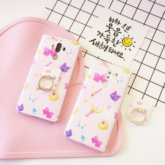 Huawei mate9/V9 Foundation cat ring support phone case