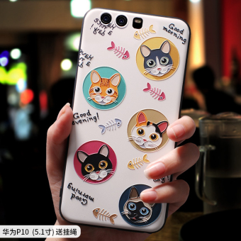 Huawei P10/p10plus cute soft silicone whole package drop-resistant protective case phone case