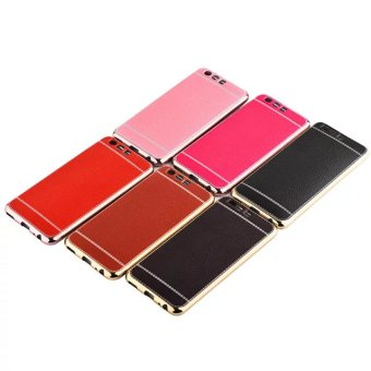 Huawei p10plus/P10 electroplated embossed leather soft sticks protective case phone case