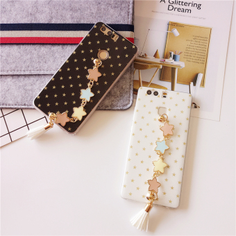 Huawei V8/P9/g9/5c star lanyards painted soft case phone case