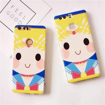 Huawei V8/P9/g9/5c us girl's painted soft case phone case