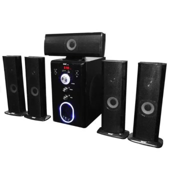 HUG H28-601 5.1 Home Theater Subwoofer Speaker with USB Slot and FMRadio