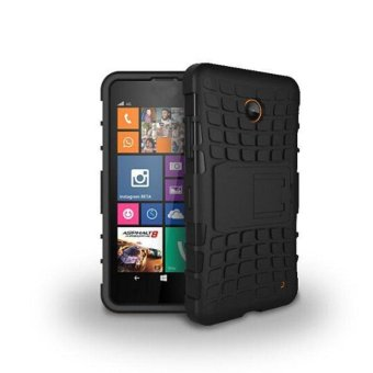 Hybrid Armor Rugged Hard Case Cover Stand Skin For Nokia Lumia 630635 Black - intl