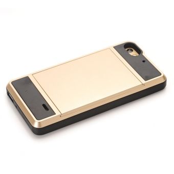 Hybrid Combo Shock Absorption Slim Back Case Cover For Huawei Honor4C (Golden) - 5