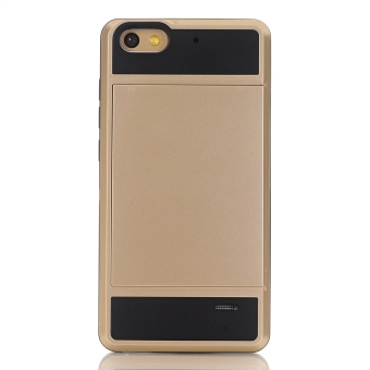 Hybrid Combo Shock Absorption Slim Back Case Cover For Huawei Honor4C (Golden) - 4