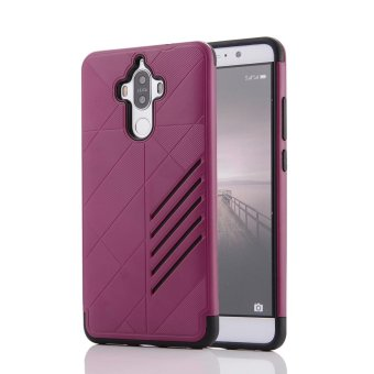 Hybrid Combo Shockproof Back Cover For Huawei Mate 9 (Hot Pink) -intl