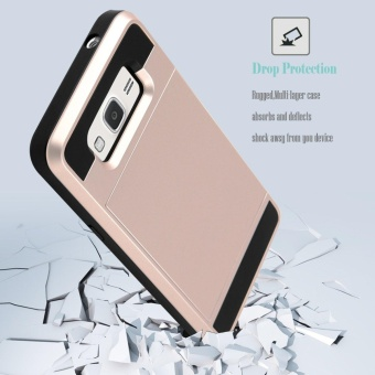 Hybrid Dual Layer Shockproof Bumper Wallet Case Cover with CardHolder for Samsung Galaxy J2 Prime - intl - 3