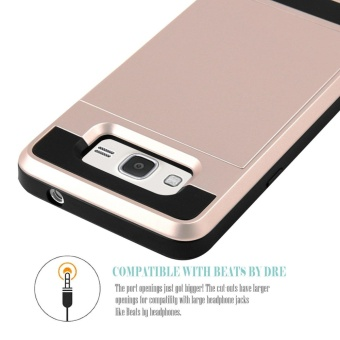 Hybrid Dual Layer Shockproof Bumper Wallet Case Cover with CardHolder for Samsung Galaxy J2 Prime - intl - 4