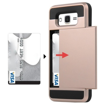 Hybrid Dual Layer Shockproof Bumper Wallet Case Cover with CardHolder for Samsung Galaxy J2 Prime - intl - 2