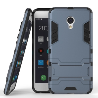 Hybrid Rugged Shockproof Armor Cover For Meizu M3E / Meilan E (NavyBlue) - intl Price Philippines