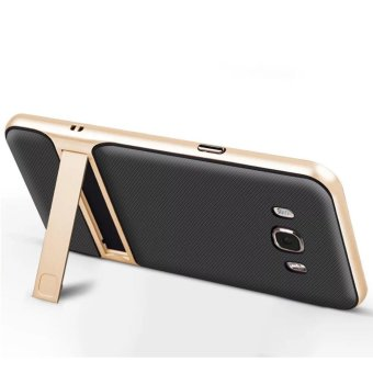 Hybrid TPU + PC Bumper Case For Samsung Galaxy J7 (2016) J710 DualLayer Anti-Scratch Kickstand Protective Cover Gold - 2