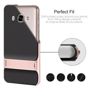 Hybrid TPU + PC Bumper Case For Samsung Galaxy J7 (2016) J710 DualLayer Anti-Scratch Kickstand Protective Cover Gold - 3