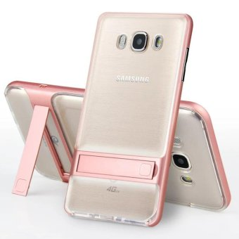 Hybrid TPU + PC Bumper Case For Samsung Galaxy J7 (2016) J710 DualLayer Anti-Scratch Kickstand Protective Cover Rose Gold