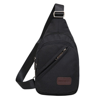 I Korean canvas men cross-body Shinebager shoulder bag