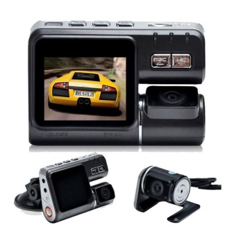 I1000 Car DVR Dual Lens Car Camcorder Allwinner A20 Dash Cam withH.264 Dual Camera 2 Rear View Camera Vehicle DVR Car Black Box -intl Price Philippines