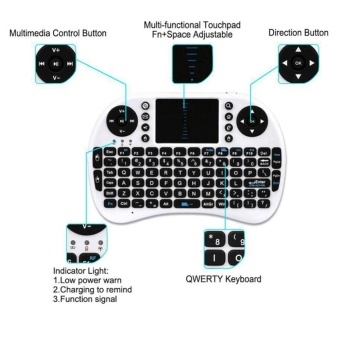 i8+ 2.4G Mini Wireless Keyboard Mouse Touchpad for PC Smart TVAndroid Box - intl - 3